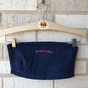 Tommy Girl Hilfiger Denim Tube Crop Top